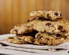 Recette cookies aux pépites de chocolat noir et raisins secs