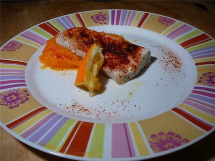 Recette de dos de colin tandoori, purée de carottes à l'orange