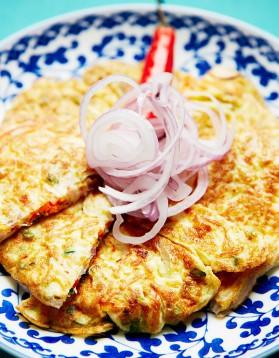 Omelette à la pâte de crevettes pour 4 personnes
