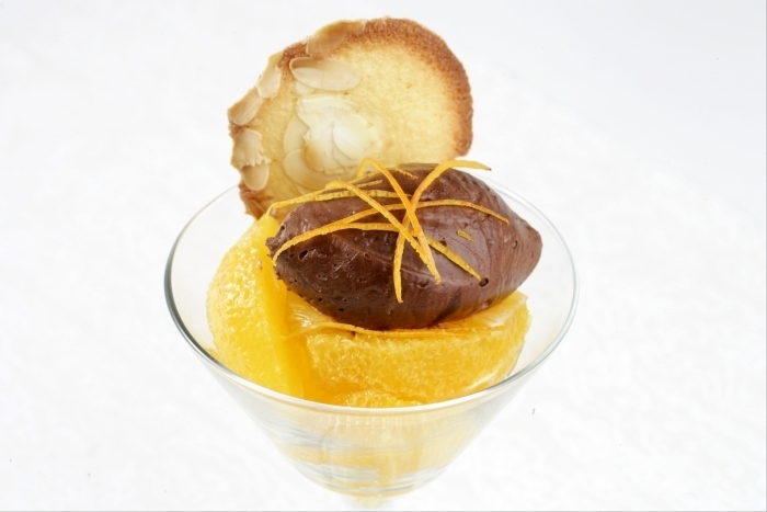 Recette de verrine de mousseline de chocolat à l'orange et tuiles ...