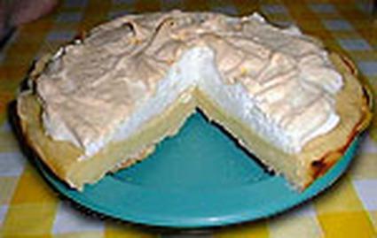 Recette de tarte au citron meringuée de grand-mère