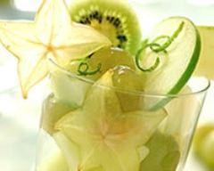 Recette salade de fruits verte