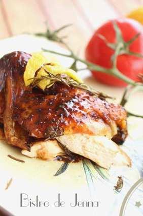 Recette de poulet rôti au miel et citron