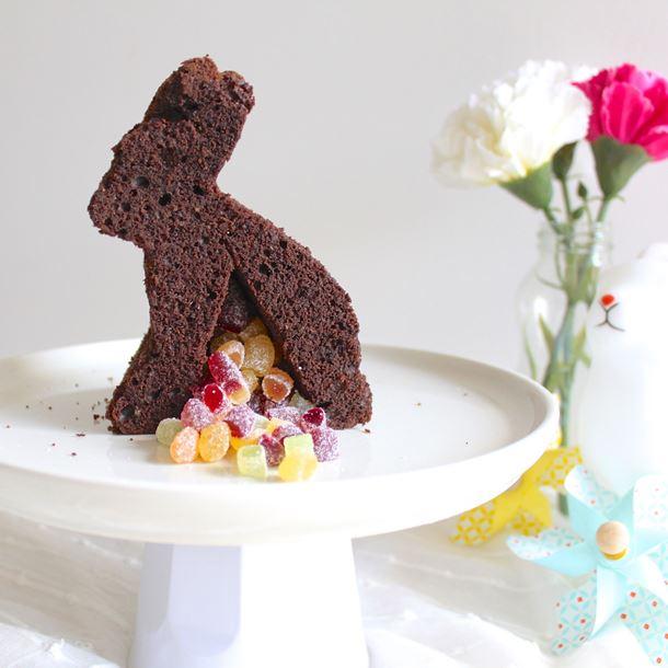 Recette gâteau lapin de pâques au chocolat surprise
