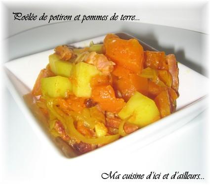 Recette de poêlée de potiron et pommes de terre