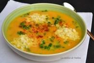 Recette de soupe aux carottes épicée au curcuma, asperges vertes ...