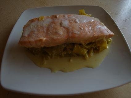 Recette de pavés de saumon à la crème et au curry