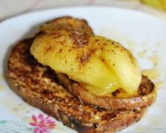 Recette pain perdu aux épices et aux poires