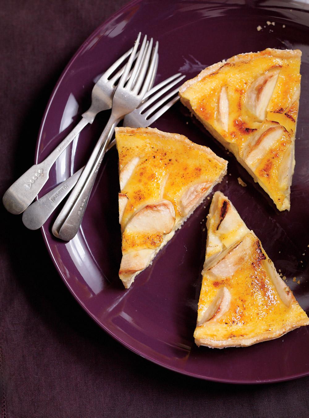 Tarte crème brûlée aux pommes | ricardo