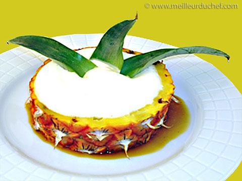 Espuma à l'ananas caramélisé  fiche recette avec photos ...