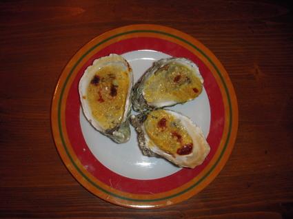 Recette de huîtres gratinées au curry