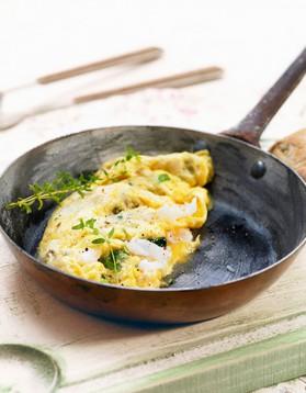 Omelette aux croûtons pour 4 personnes