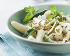 Recette salade de courgettes et de pâtes à la menthe