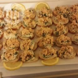 Recette canapé de saumon sur fromage frais aux épinard et ...