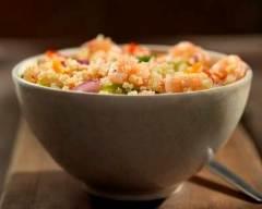 Recette salade de quinoa aux crevettes