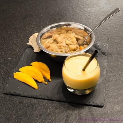 Recette de dhal de poulet aux légumes et son lassi à la mangue ...