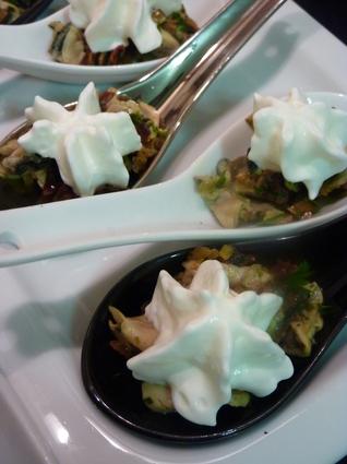 Recette de tartare d'huître et espuma citronné
