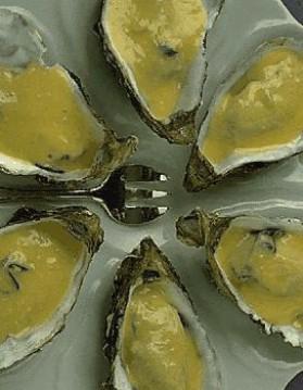 Huîtres au beurre blanc pour 6 personnes
