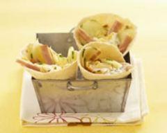 Recette cornets de tortilla à la dinde et aux crudités