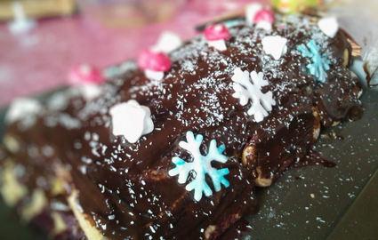 Recette de bûche chocolat-mûres