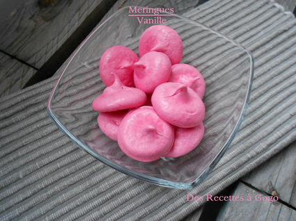 Recette de meringues vanille