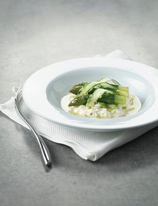 Recette risotto aux asperges vertes (cake salé)