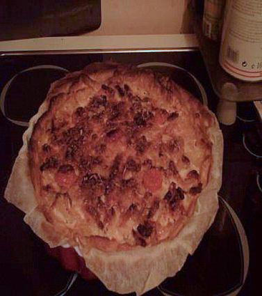 Recette tarte aux pommes de terre et lardons (tarte salée)