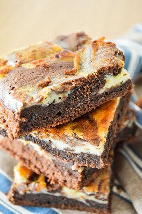 Recette de brownie marbré chocolat noir et blanc