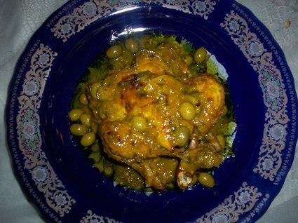 Recette de poulet aux olives et citron confit