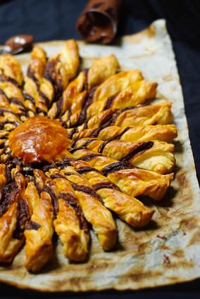 Recette de tarte soleil aux noisettes et praliné