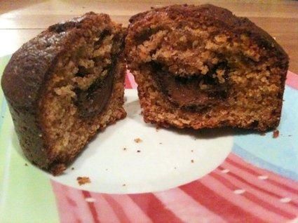 Recette de muffins à la noisette, coeur de nutella