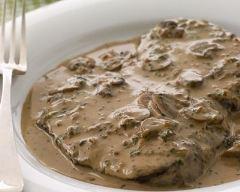 Recette steaks de bœuf à la sauce diane