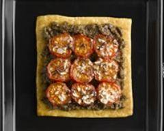 Recette tartes fines aux tomates et au caviar d'aubergine