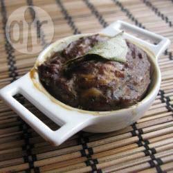 Recette pâté de foies de volaille, au poulet, amandes et pruneaux ...