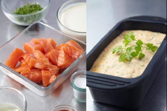 recette de terrine de saint jacques au saumon facile et rapide recette. Black Bedroom Furniture Sets. Home Design Ideas