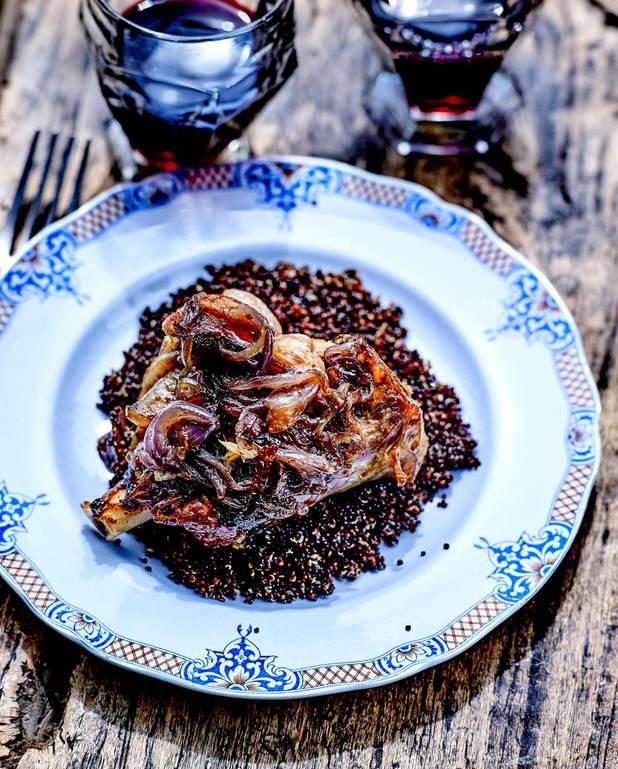 Souris d'agneau au quinoa noir pour 4 personnes