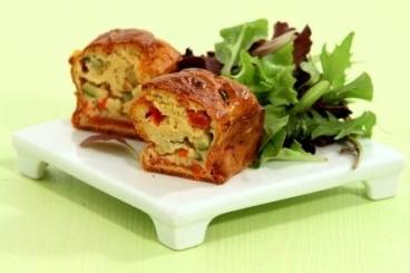 Recette de petits cakes aux légumes du soleil facile et rapide