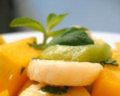 Recette salade de fruits frais à la menthe