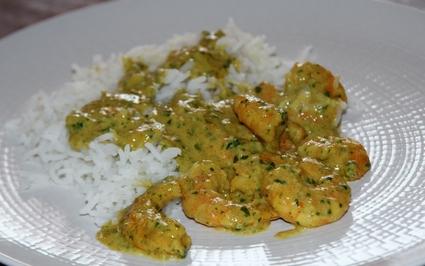 Recette de curry de crevettes au lait de coco