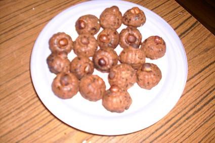 Recette de petits monts au chocolat-noisette
