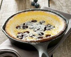 Recette gâteau aux myrtilles façon pancake à la poêle