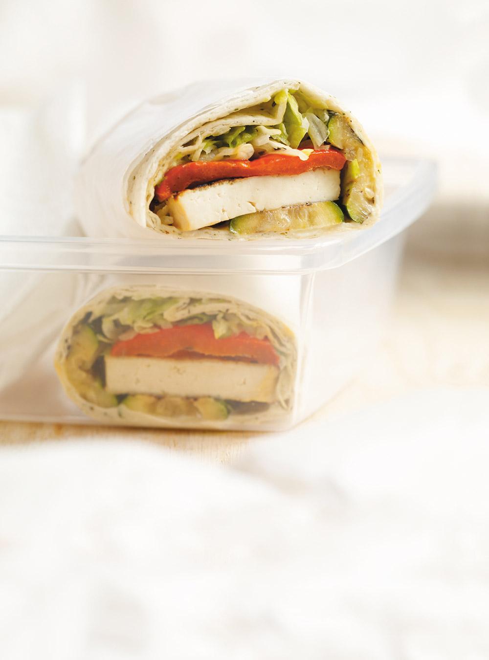 Wraps au tofu et aux légumes grillés | ricardo