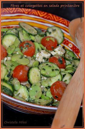 Recette de fèves et courgettes en salade printanière