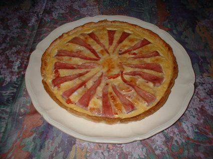 Recette de tarte soleil jambon et tomate