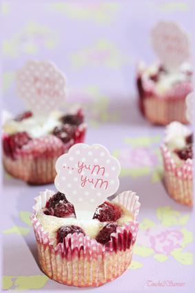 Mini-muffins ricotta framboise vanille