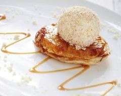 Recette mini tartes tatin à l'ananas et glace à la vanille
