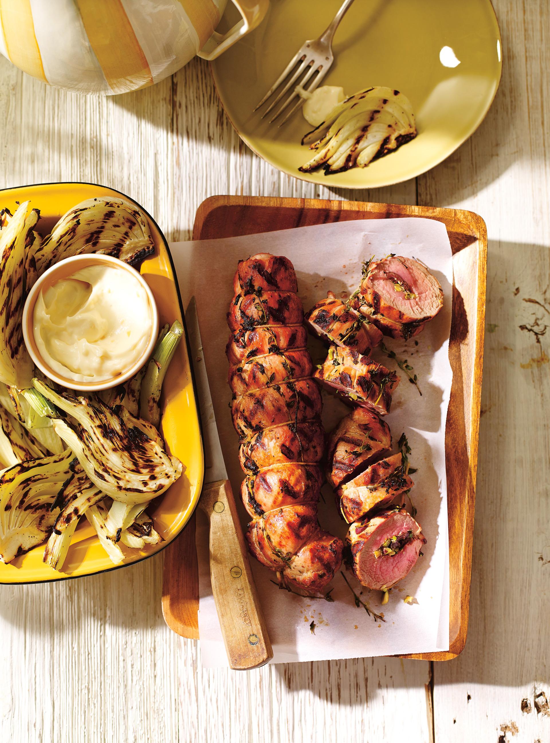 Filets de porc farcis aux olives et au citron confit | ricardo