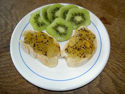 Recette de confiture kiwis-pommes-orange