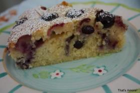 Gâteau au yaourt et myrtilles pour 8 personnes