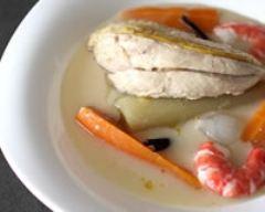 Recette blanquette de poulet aux crevettes et à la vanille